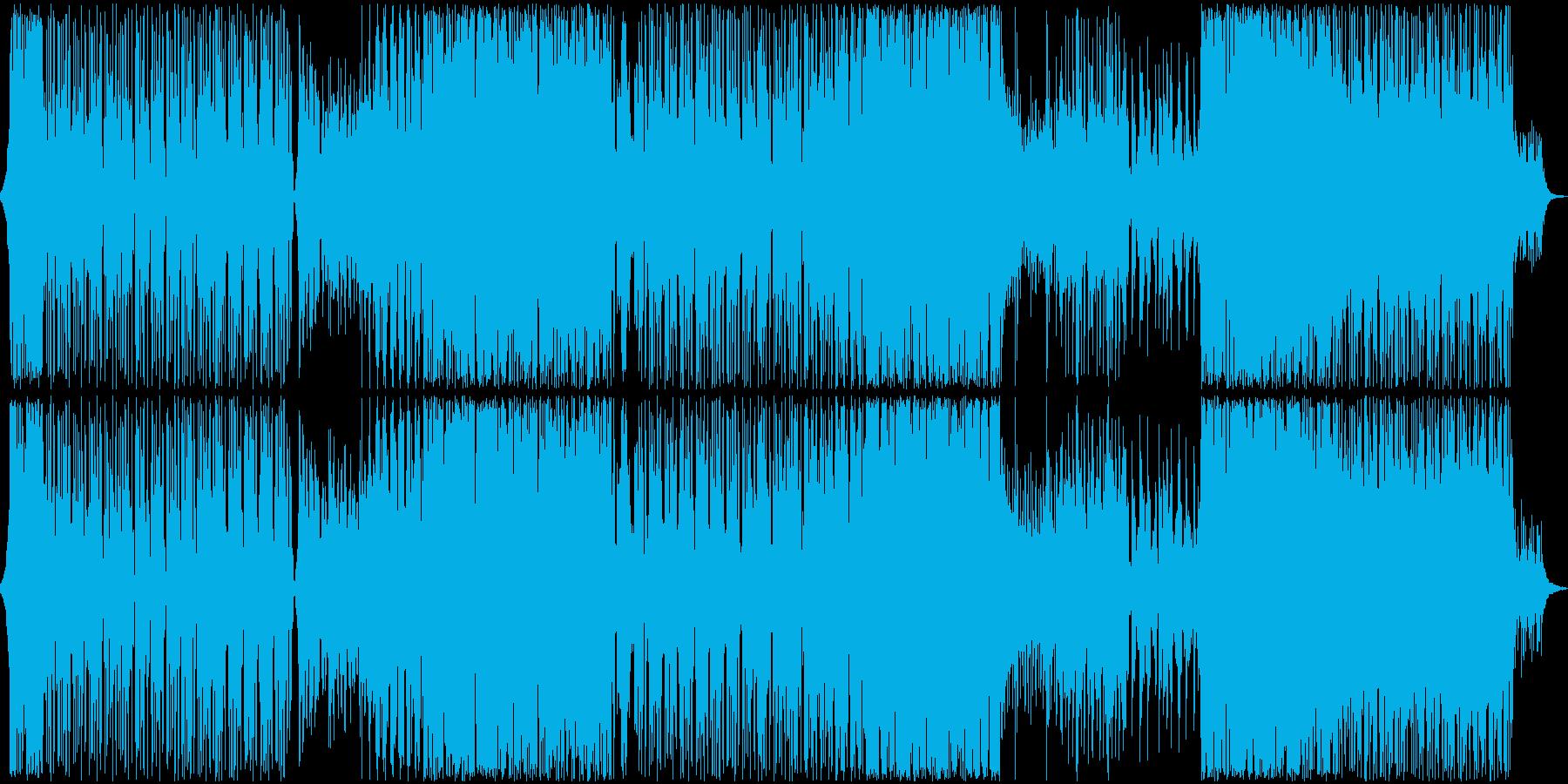 囚われた美しい鳥のエレクトロニカの再生済みの波形