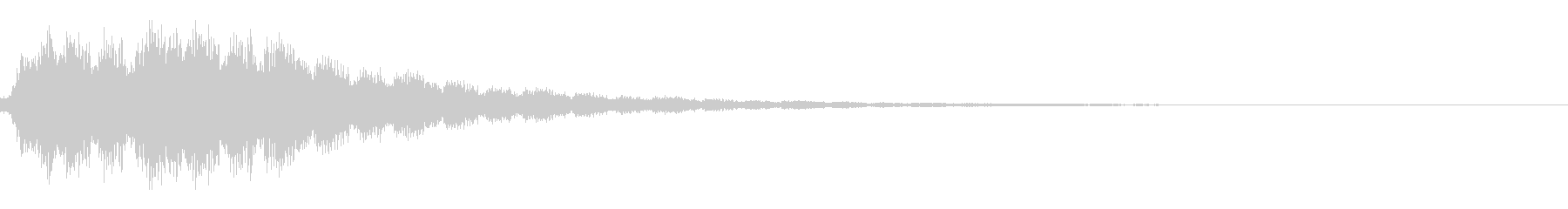ワープ・瞬間移動・電子音・テレポートbの未再生の波形