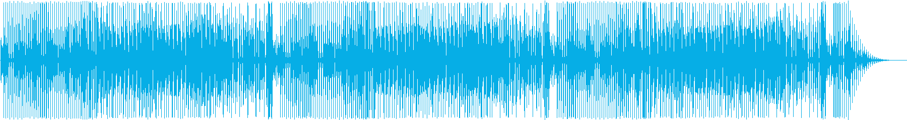 少し間抜けで明るい雰囲気のポップBGMの再生済みの波形