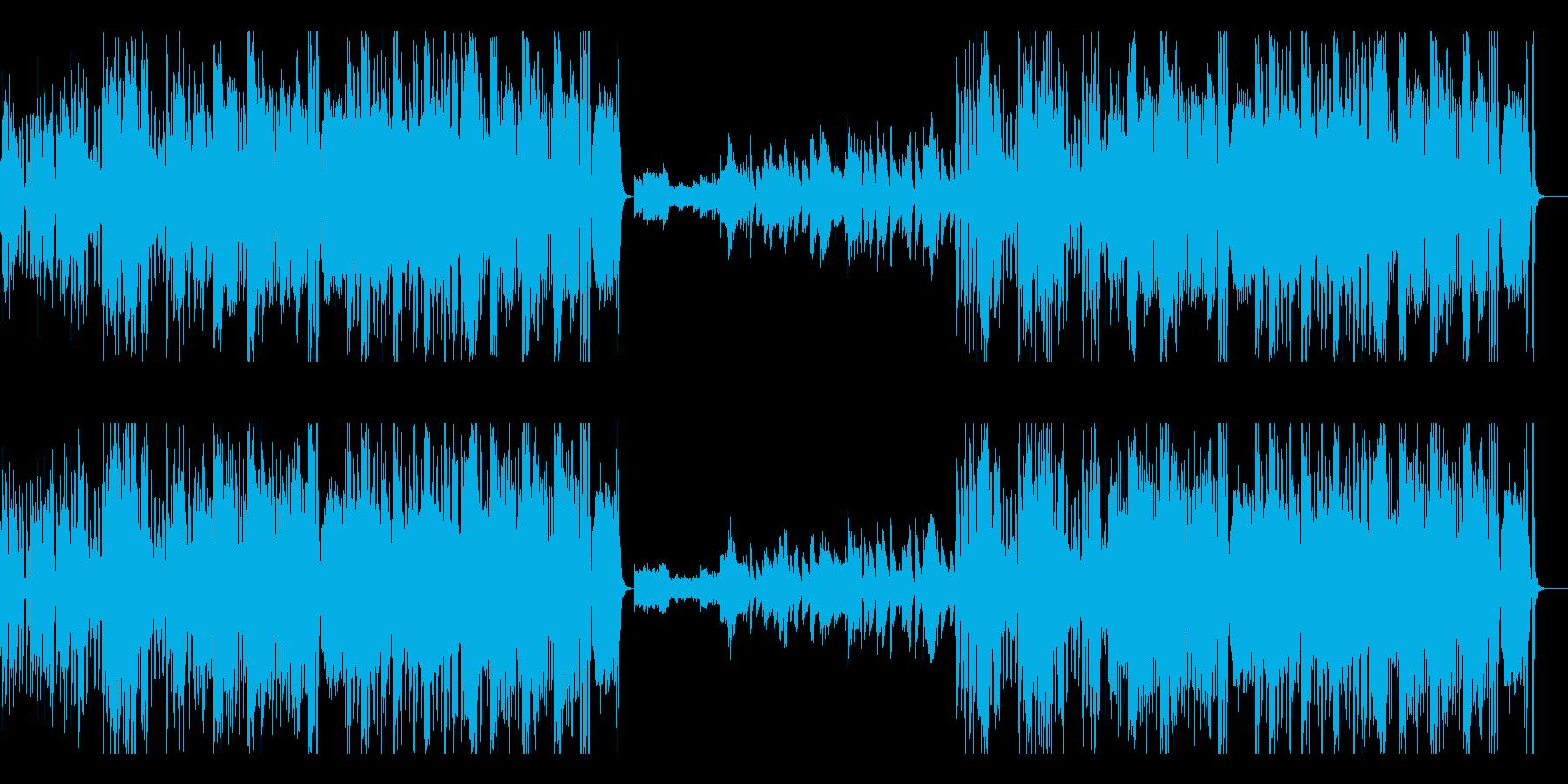 激しい ロック ジャズ ラテン 優雅の再生済みの波形