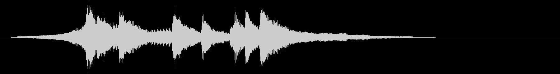 浮遊感のあるピアノのフレーズのジングルの未再生の波形