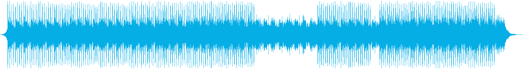 チュートリアルミュージックの再生済みの波形