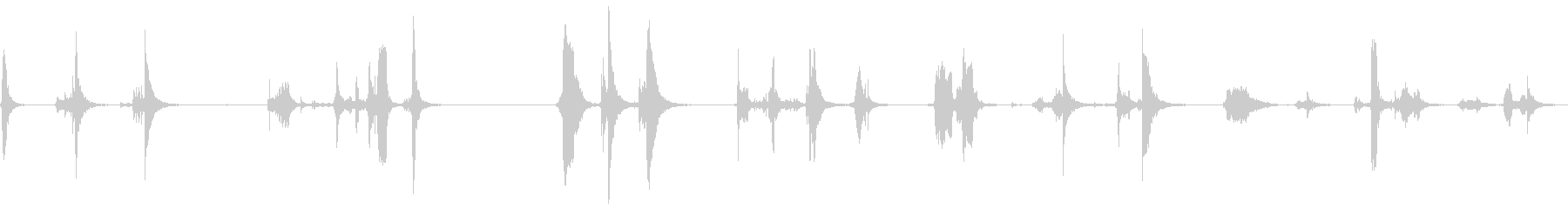 ドアメタルラッチスキール古いの未再生の波形