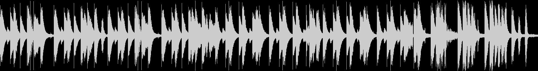 ほのぼのしたマリンバが印象的なBGMの未再生の波形