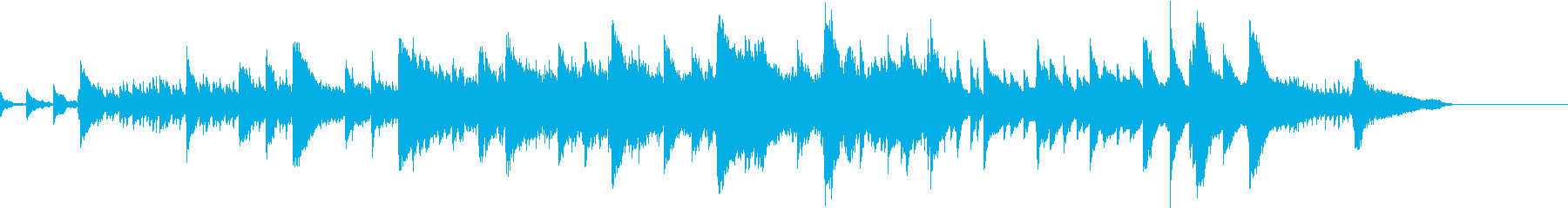 幻想的なピアノインストの再生済みの波形