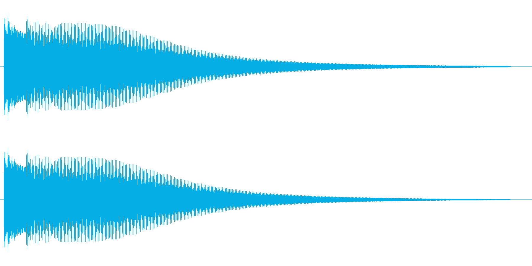 キラン系(チャラン)の再生済みの波形