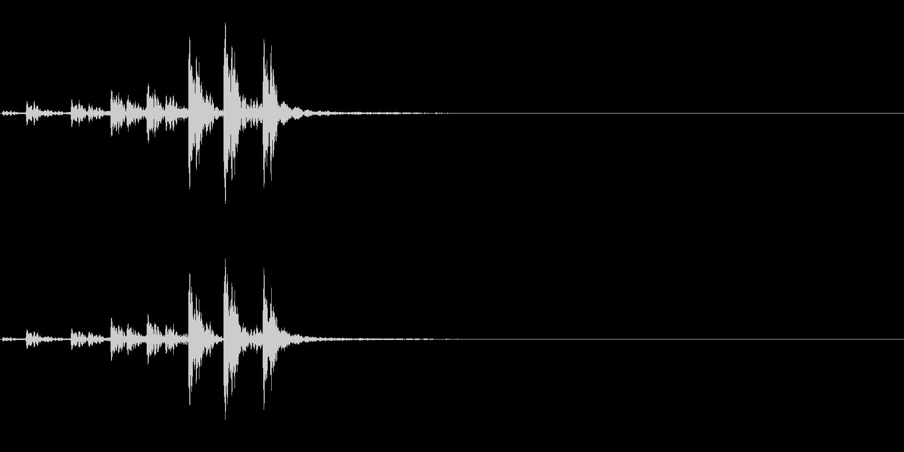 相撲などの触れ太鼓「大拍子」連続音2FXの未再生の波形