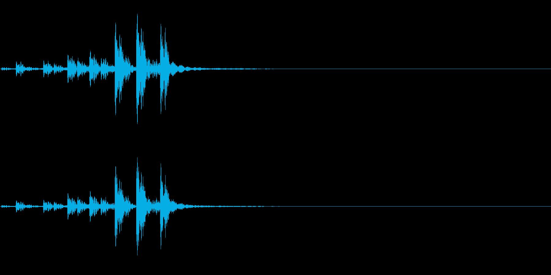 相撲などの触れ太鼓「大拍子」連続音2FXの再生済みの波形