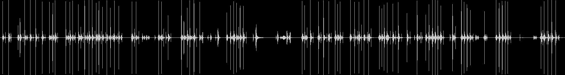 タイプライターのタイピング音(生録音)の未再生の波形