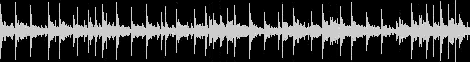 和太鼓で重たいリズムの短めループフレーズの未再生の波形