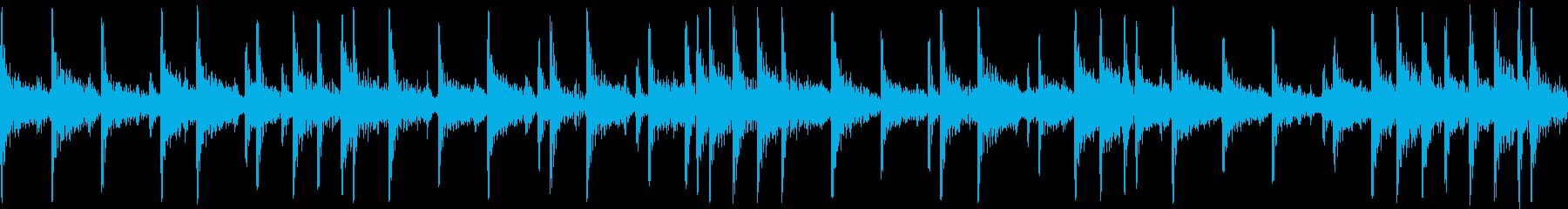 和太鼓で重たいリズムの短めループフレーズの再生済みの波形