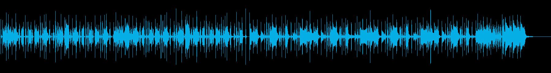 ミドルテンポのファンク曲の再生済みの波形