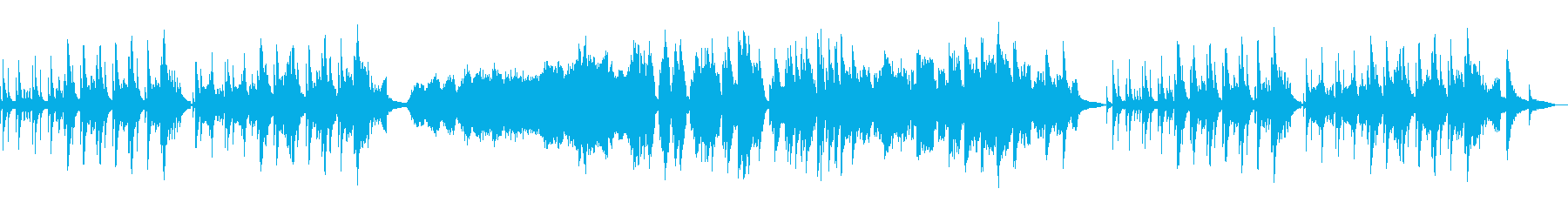 リラックスした雰囲気のBGMの再生済みの波形