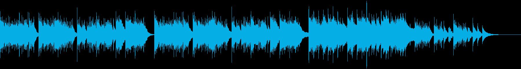 ほっと心が温まる優しいチェレスタの曲の再生済みの波形