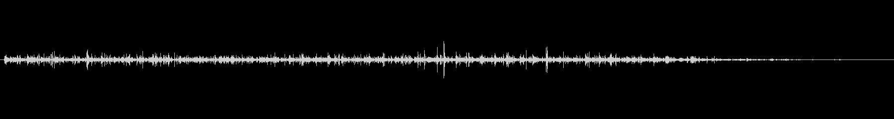 砂利道と川の流れる自然音 pt14の未再生の波形