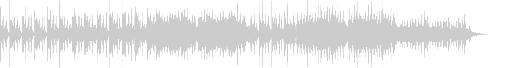 キラキラしたピアノバラード小品の未再生の波形
