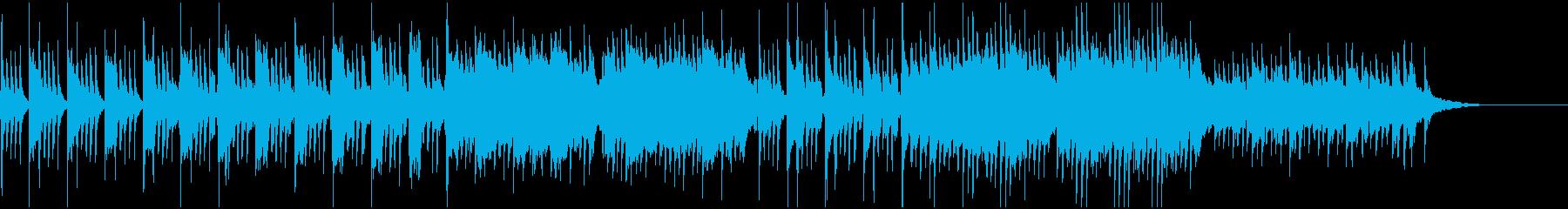 キラキラしたピアノバラード小品の再生済みの波形