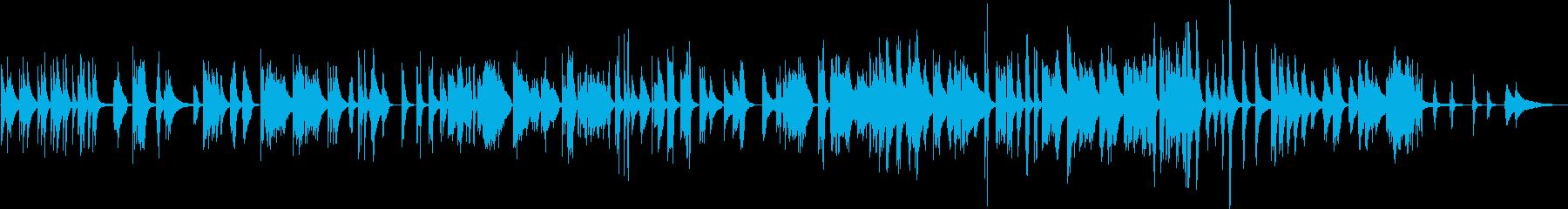 ソロピアノトラック。瞑想的で思慮深...の再生済みの波形