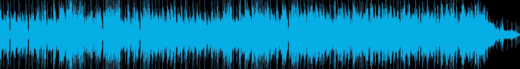 格好いいベースとキック、ピアノのジングルの再生済みの波形