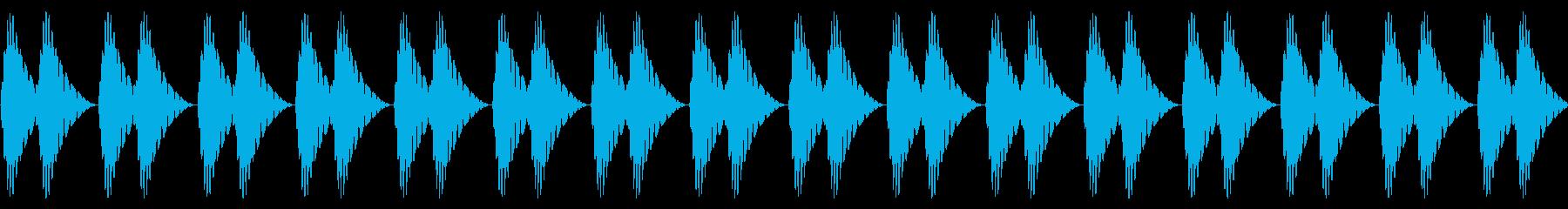 ドクドク!(心音/脈拍200/頻脈)の再生済みの波形