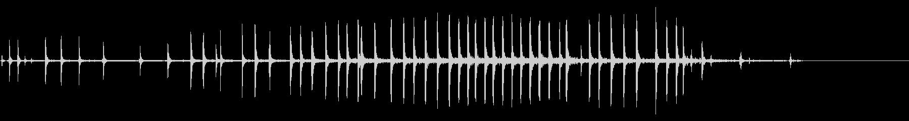 つまみネジターンX 10の未再生の波形