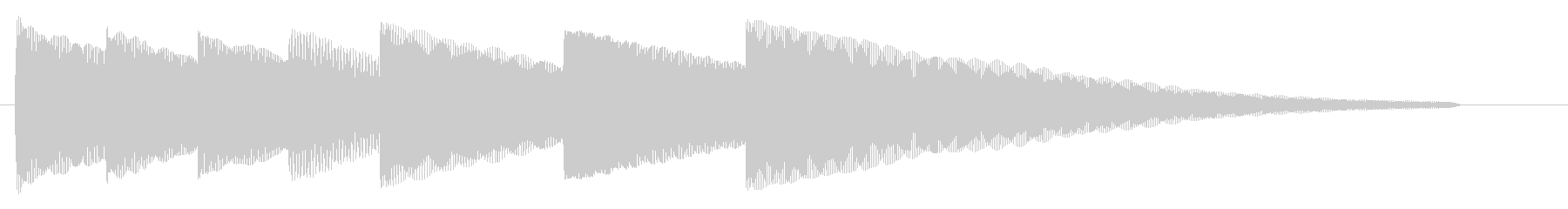 ジングル『おやすみ』01の未再生の波形