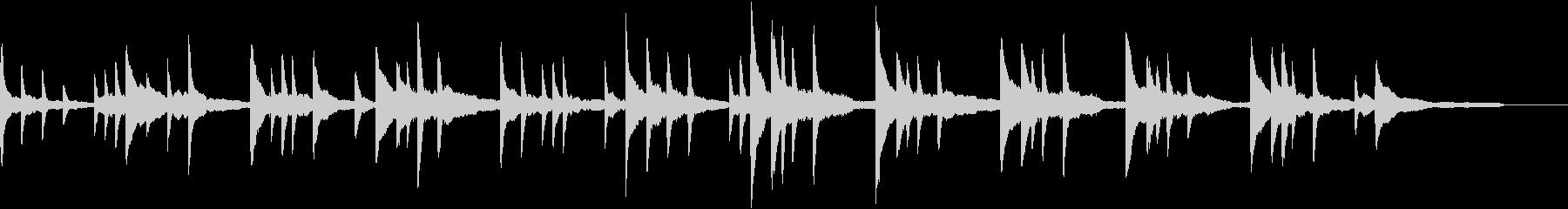 静かな映像向けの静寂な1分弱のピアノ曲の未再生の波形