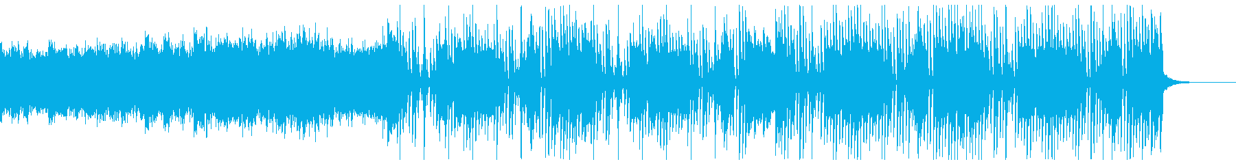 ガヤガヤした感じの変則ビートの再生済みの波形