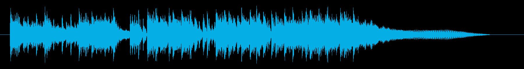 神秘的でリズミカルなシンセジングルの再生済みの波形