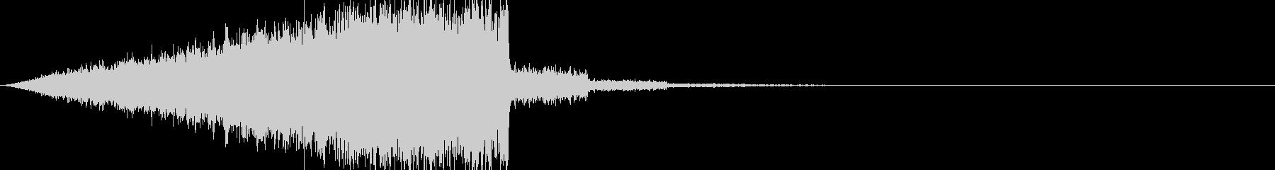 ヒューンと何かが通り過ぎるゲーム効果音の未再生の波形