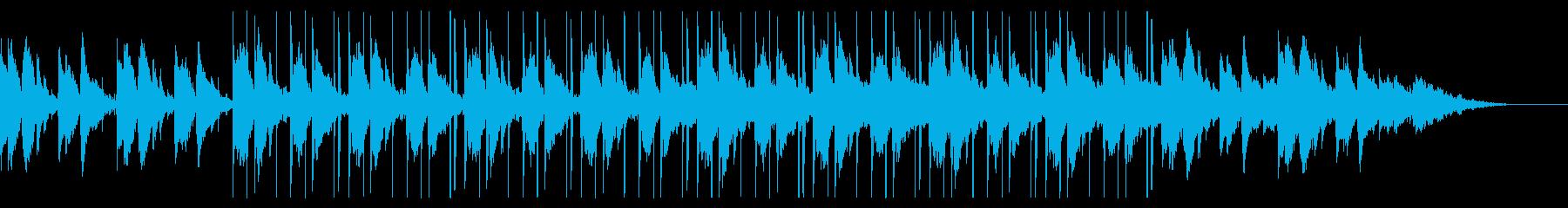 静かなギターのチル・ヒップホップの再生済みの波形