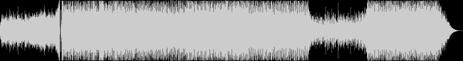 クールなテクノポップの未再生の波形