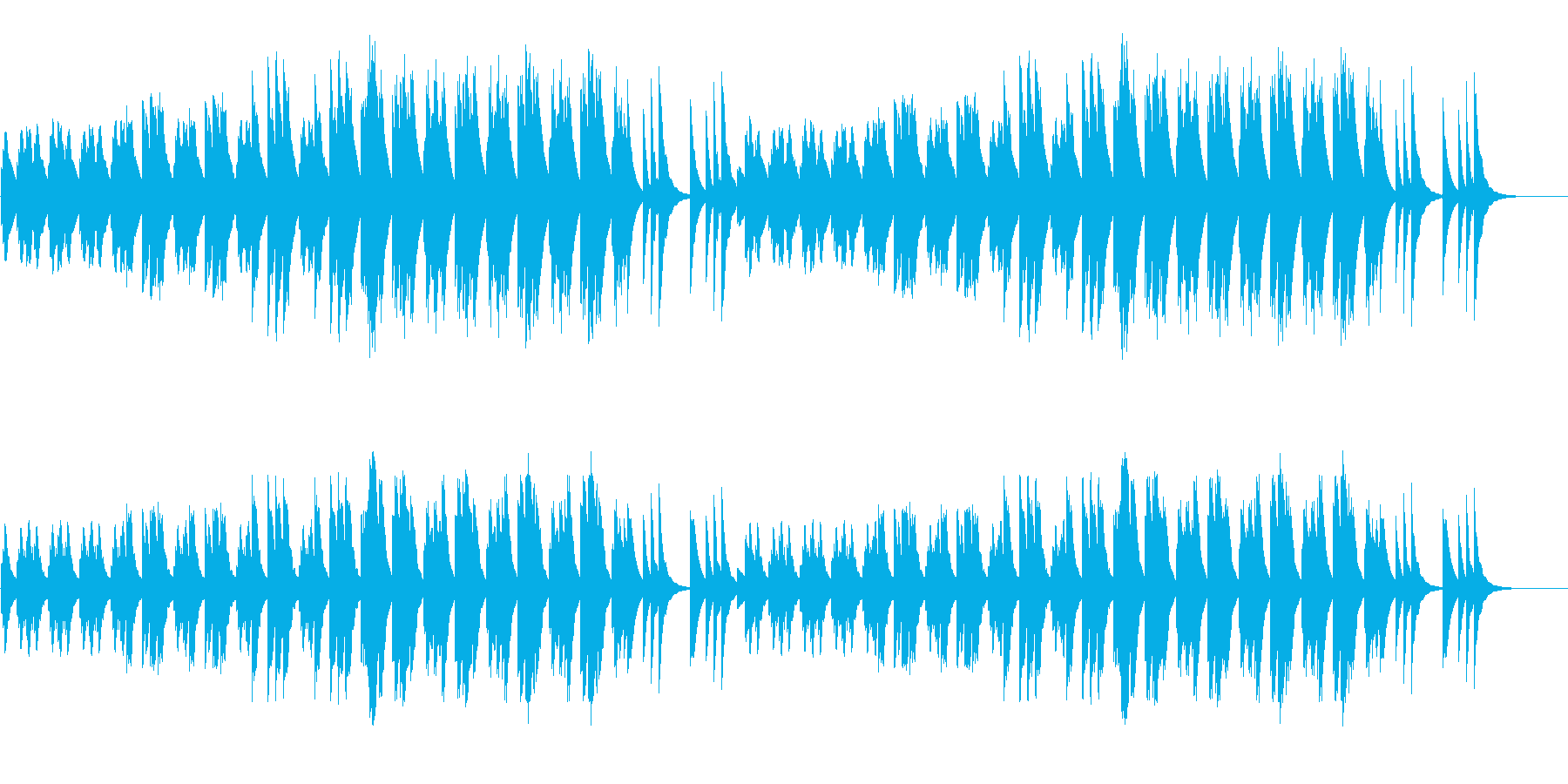 しんみりとする柔らかい音色のエレピソロの再生済みの波形
