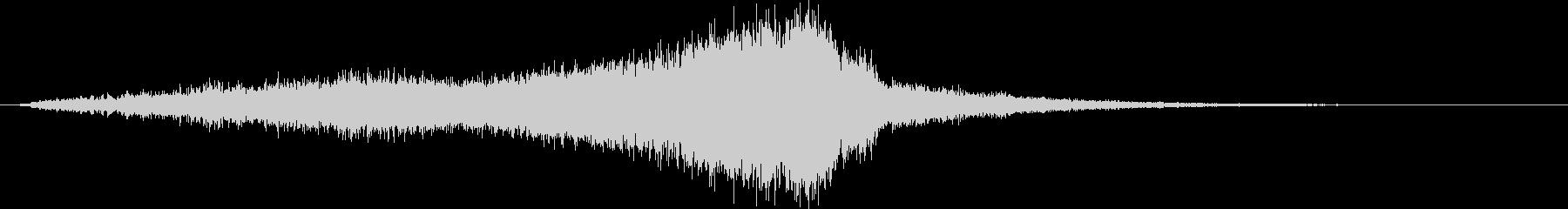 ホラーやサスペンスで使える効果音の未再生の波形