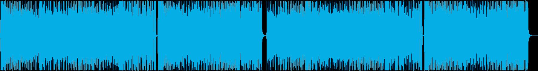 爽やかなアコギ主体のBGMの再生済みの波形