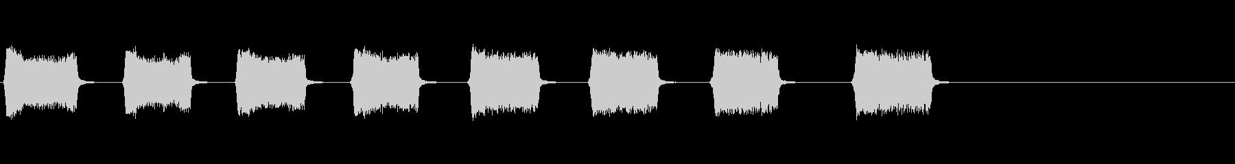 コンプレッサーからのミディアムエア...の未再生の波形
