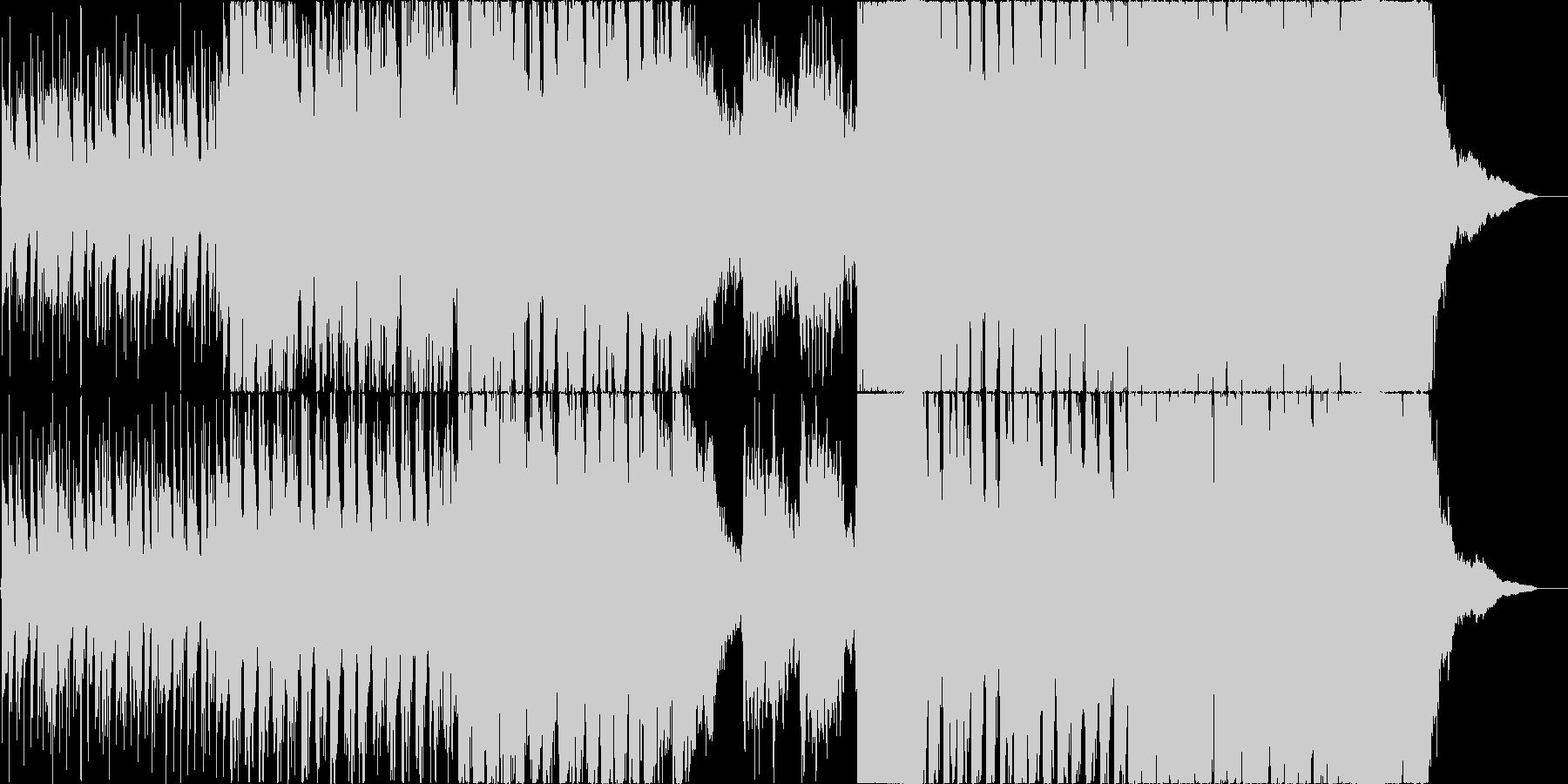 尺八を取り入れたオーケストラの未再生の波形