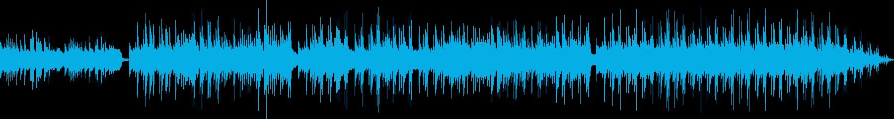 心を落ち着かせるアコースティック曲の再生済みの波形