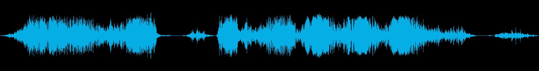 狂犬が連続で吠えるの再生済みの波形