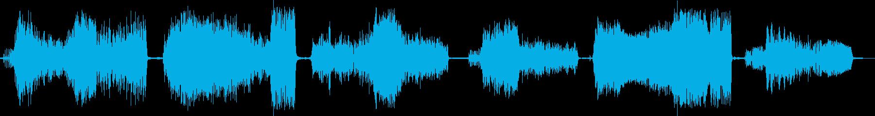 イノシシ、野生のうなり声、うなり声...の再生済みの波形