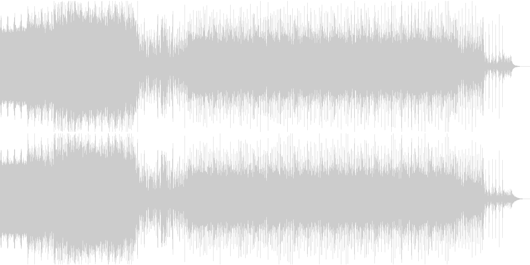 ディスコ風EDMの未再生の波形