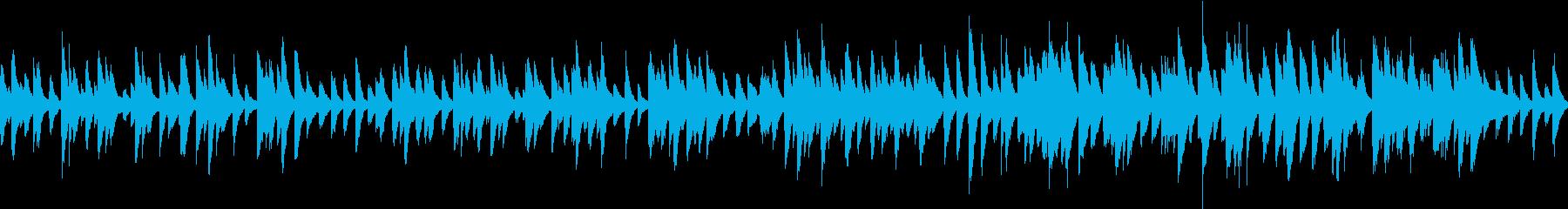 おやつタイムなお洒落ソロピアノジャズの再生済みの波形