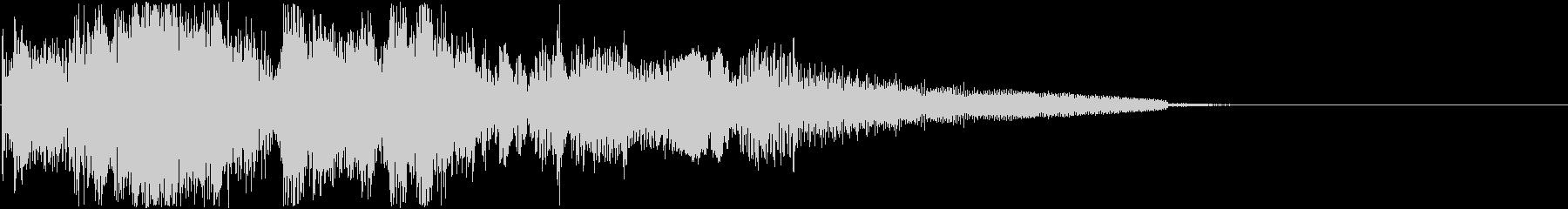 スリーショットピストルリコシェットの未再生の波形
