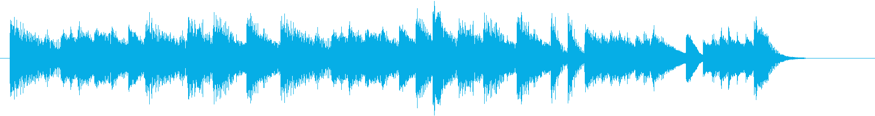 お正月・春の海モチーフのピアノジングルFの再生済みの波形