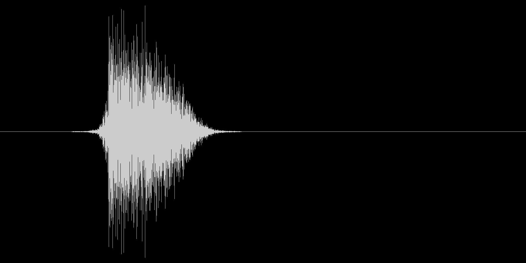 ゲーム(ファミコン風)ヒット音_008の未再生の波形