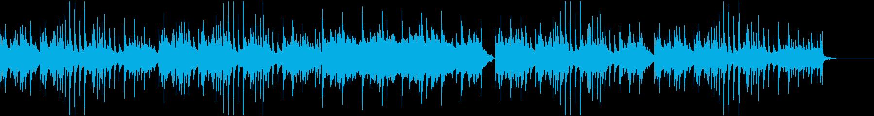 感動的な雰囲気のピアノ曲の再生済みの波形