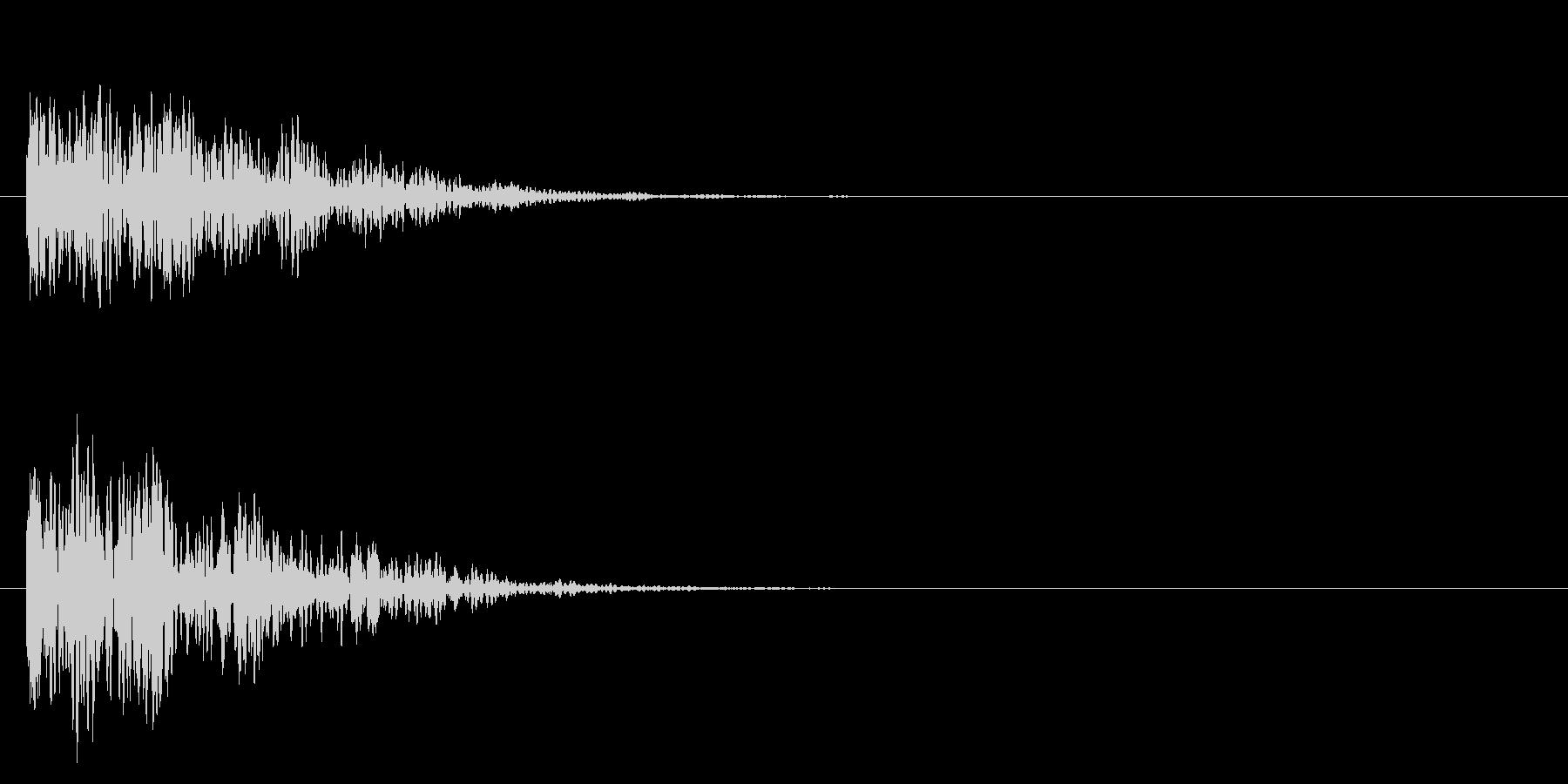ヘビーディープウッドインパクトの未再生の波形