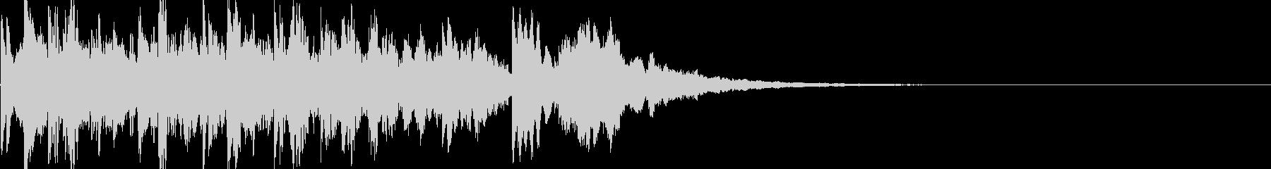 電車到着音(短い音楽)の未再生の波形