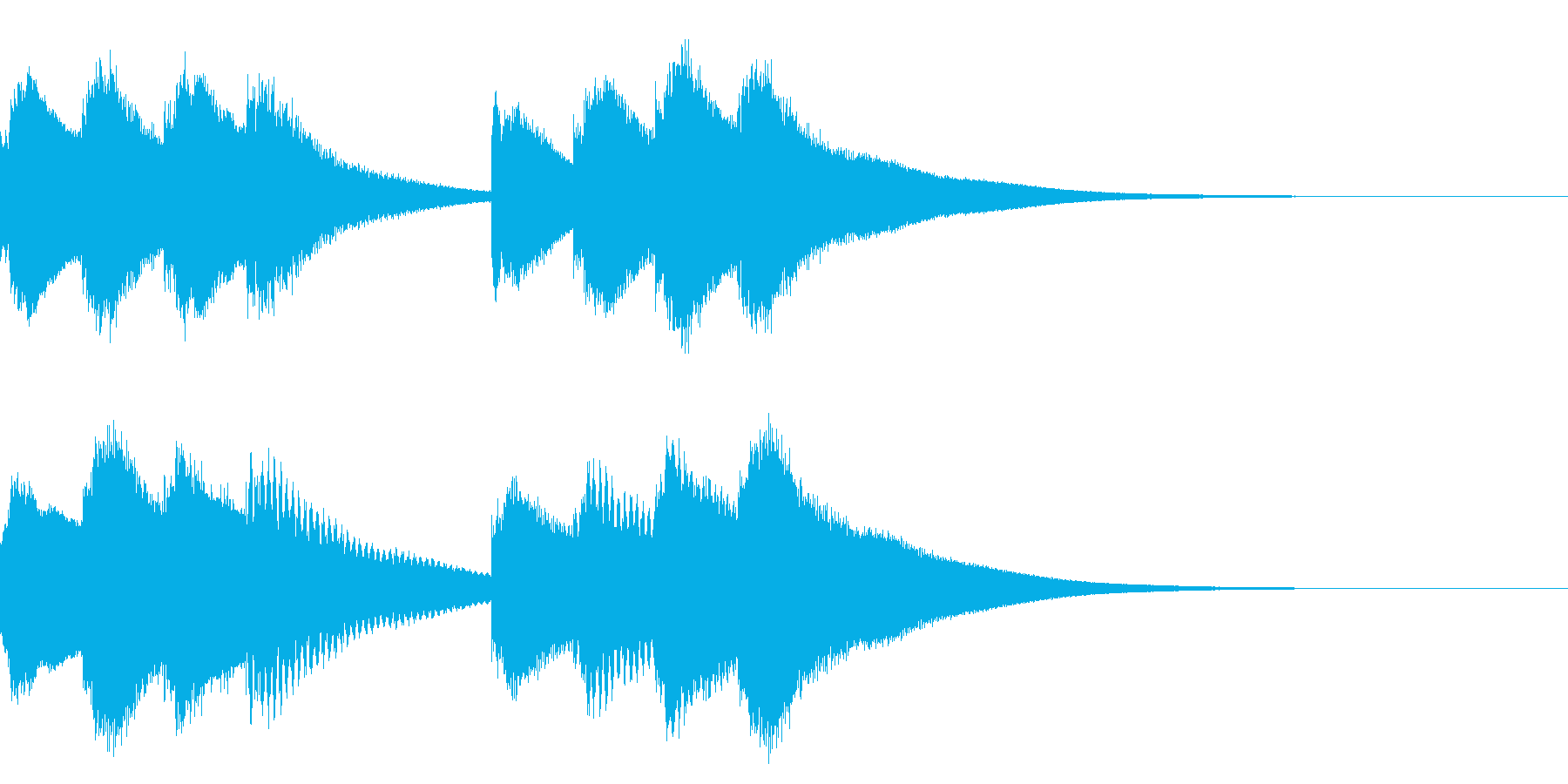 学校のチャイム 3の再生済みの波形