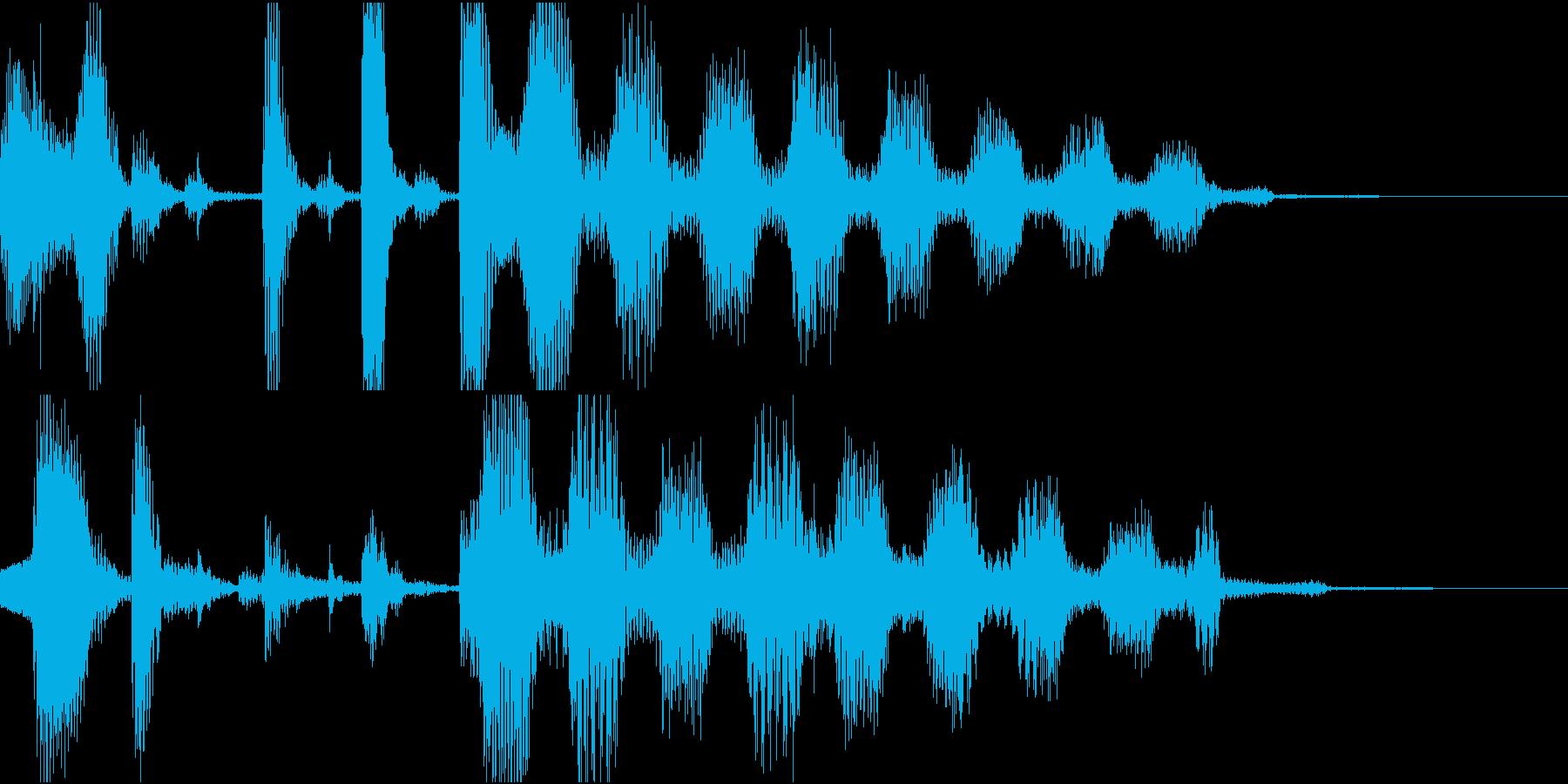 6秒ジングル ジャジーで可愛い感じの再生済みの波形